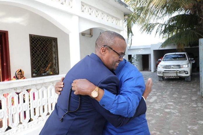 HirShabelle President visits Ali Mahdi at his residence