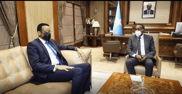 Prime Minister Roble meets with candidate Jibril Ibrahim