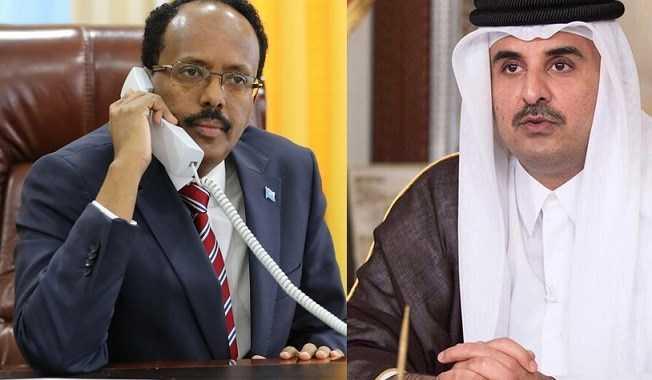 Qatar's Emir holds telephone converses with active Somalia President