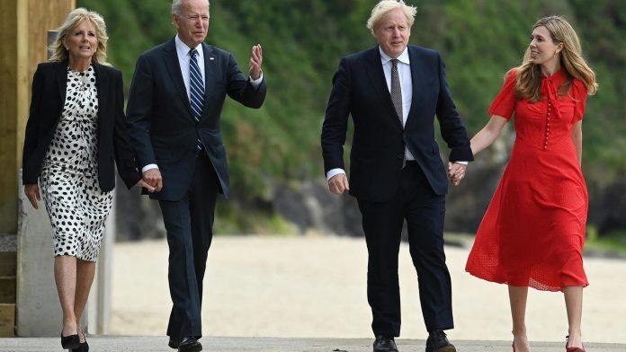 Britain's Johnson greets Biden as 'fresh air' at G7 meeting