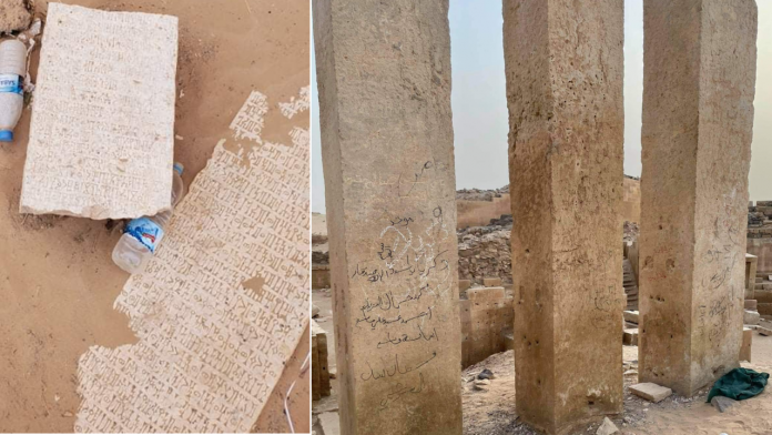 Ancient ruins of Saba Kingdom temple vandalized and looted